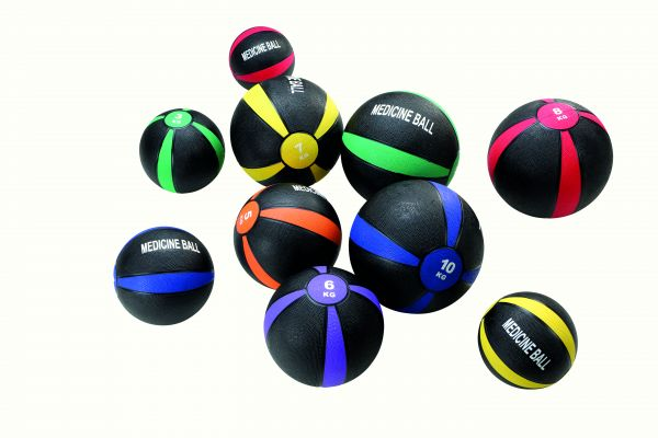 Medizinball 4 kg - ∅ 22 cm - schwarz-blau