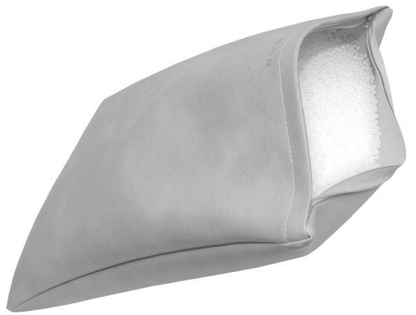 Kopfkissen m. Styroporkugelfüllung, grau