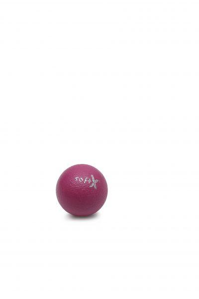 softX® Schaumstoffball mit Haut, pink, 8 cm