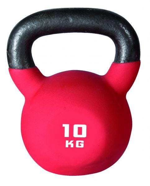 Pro Neopren-Kettlebell 10 kg schwarz/rot