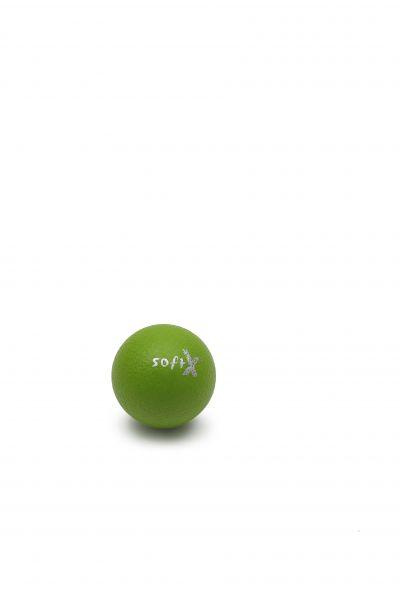 softX® Schaumstoffball mit Haut, kiwi, 8 cm