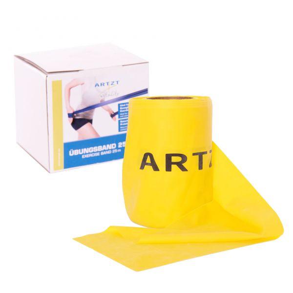 ARTZT vitality Übungsband Rolle 25 m, leicht / gelb