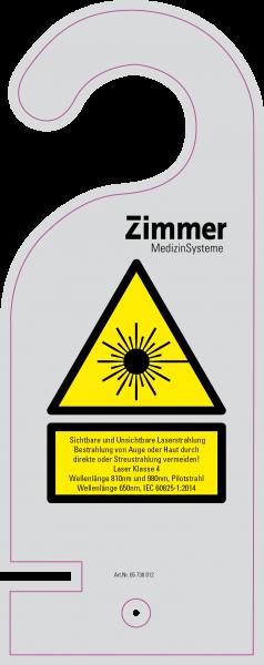 ZIMMER Laserwarnschild