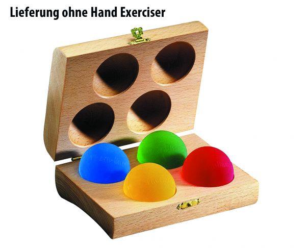 Holzbox und vier Hand Exerciser