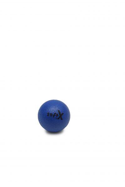softX® Schaumstoffball mit Haut, blau, 8 cm