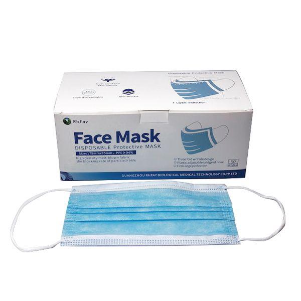 3-lagige Mund- und Nasenbedeckung
