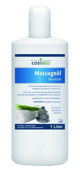 Massageöl - neutral - 1 l Flasche