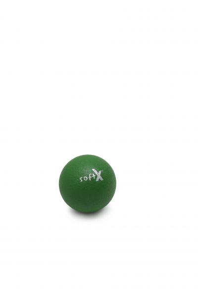 softX® Schaumstoffball mit Haut, grün, 8 cm