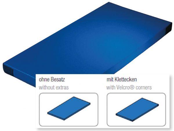 Fallschutzmatte Superleicht blau mit Klettecken