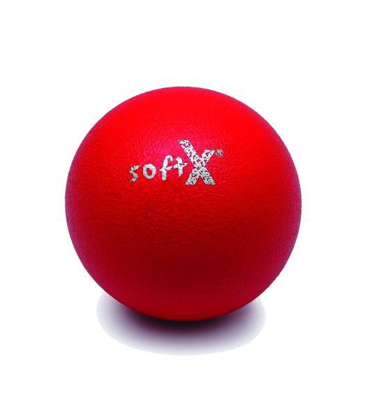 softX® Schaumstoffball mit Haut, rot, 16 cm